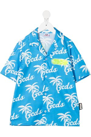 Gcds Kids Logo print shirt