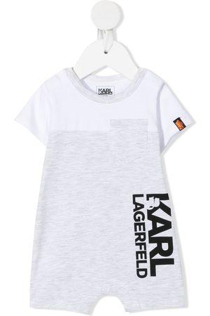Karl Lagerfeld Logo-print short-sleeved shorties - Grey