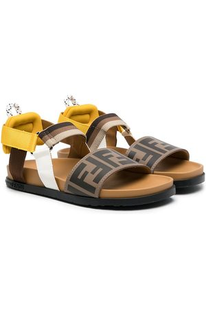 Fendi Kids FF-strap sandals