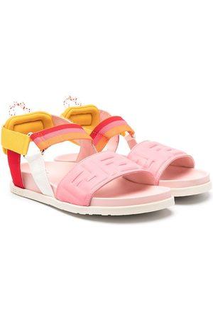Fendi Kids Logo-strap sandals
