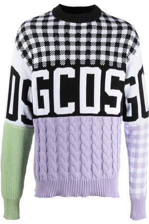 Gcds Colour-block logo print knitted jumper