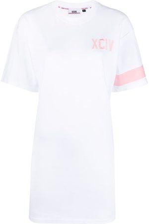 Gcds Embroidered-logo cotton dress
