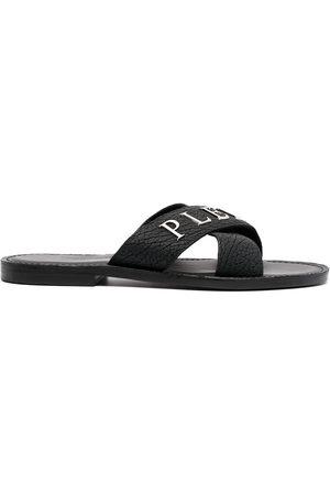 Philipp Plein Men Sandals - Logo-plaque sandals