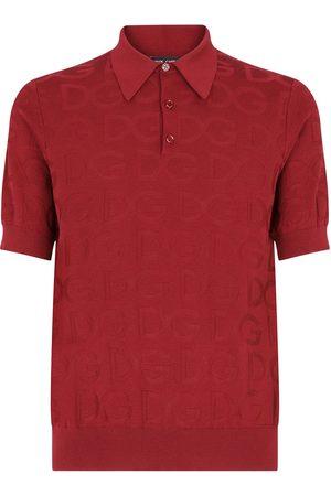 Dolce & Gabbana Logo-jacquard short-sleeve polo shirt