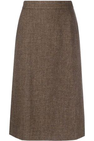 12 STOREEZ High-waisted wool midi skirt