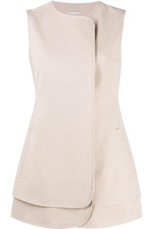 12 STOREEZ Peplum blazer-style vest - Neutrals