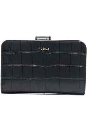 Furla Crocodile-effect folded purse