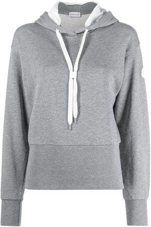 Moncler Cut-out logo hoodie - Grey