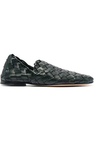 Bottega Veneta Woven-effect slip-on loafers