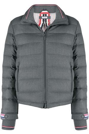 Thom Browne Padded funnel neck jacket - Grey