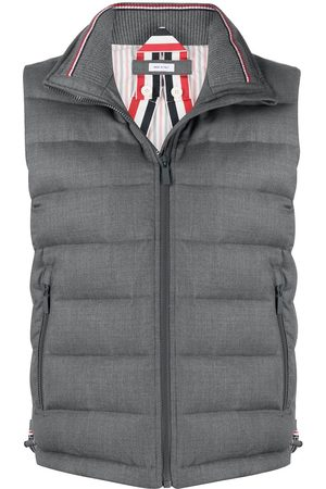 Thom Browne Padded funnel neck vest - Grey
