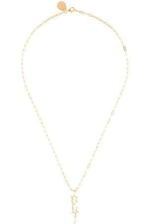 Simone Rocha Pearl-embellished E letter necklace