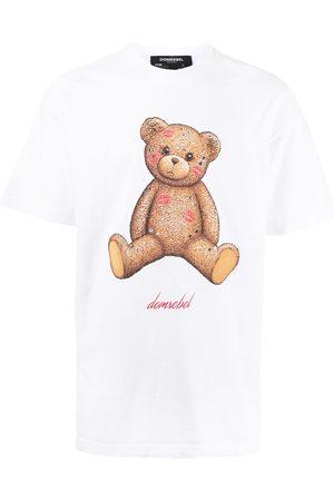 DOMREBEL Smooch Box crystal-embellished cotton t-shirt