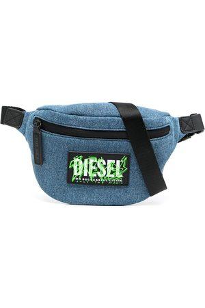 Diesel Kids Logo-patch denim belt bag