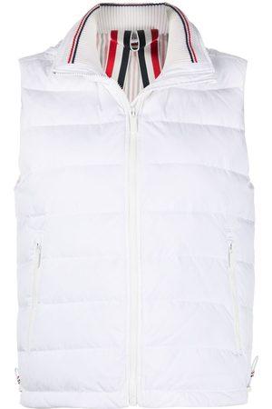 Thom Browne Women Gilets - Rear stripe padded gilet