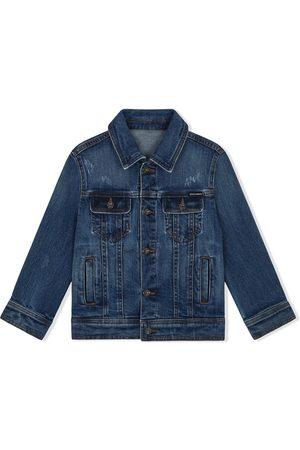 Dolce & Gabbana Kids Boys Denim Jackets - Logo patch denim jacket