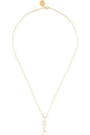 Simone Rocha Pearl-embellished F letter necklace