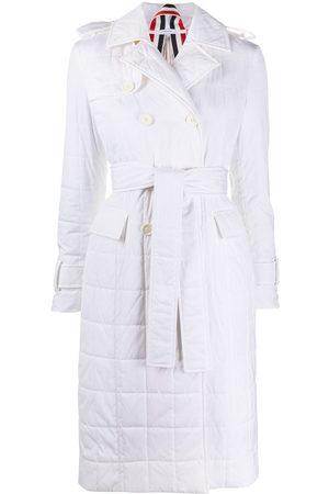 Thom Browne RWB stripe trench coat