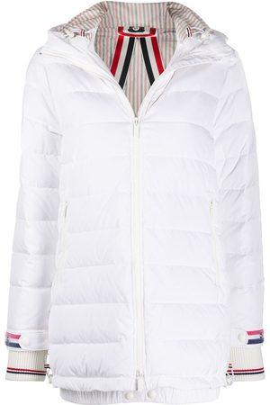 Thom Browne Women Trench Coats - Zip-up hooded overcoat
