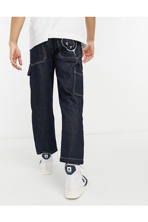 Levi's Youth tapered carpenter crop jeans in smile more wash