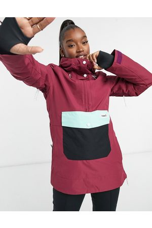 Planks Overstoke ski anorak jacket in plum