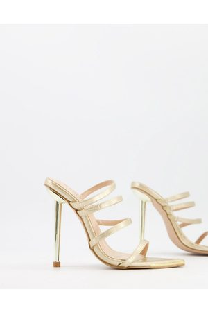 SIMMI Shoes Simmi London Felicia strappy mules with heel in