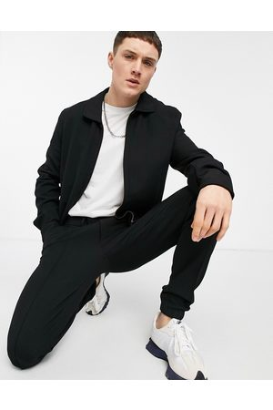 ASOS DESIGN Smart harrington jacket set in crepe