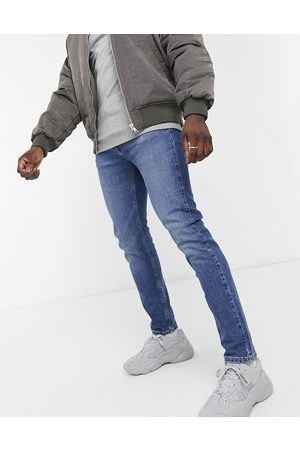 Levi's Youth 502 tapered hi ball jeans in hawthorne wind mid wash-Blues