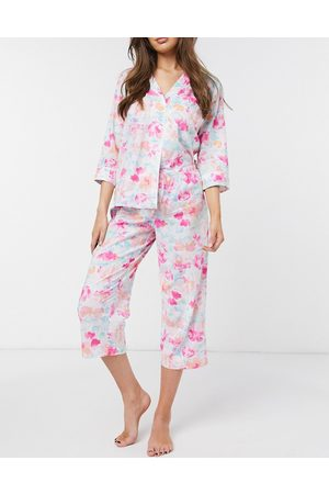 Lauren by Ralph Lauren Lawn notch collar capri pajamas in-Multi