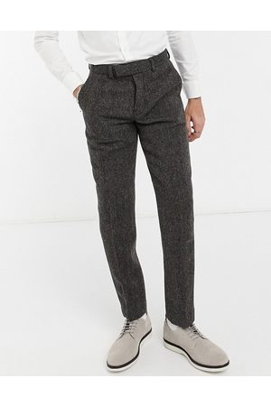 ASOS Harris tweed 100% wool slim suit pants in herringbone