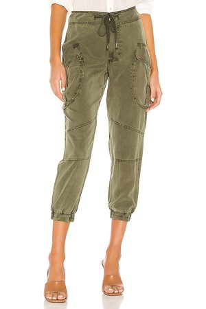 YFB CLOTHING Clyde Cargo Pant in Green.
