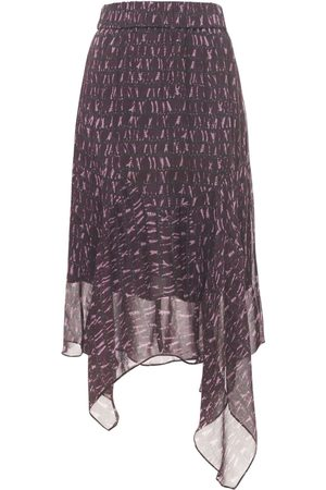 Isabel Marant Women Asymmetrical Skirts - Soleda Asymmetrical Chiffon Skirt