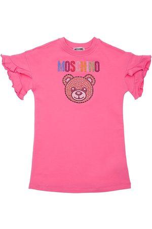 Moschino Girls Dresses - Sequins Toy Cotton Sweat Dress