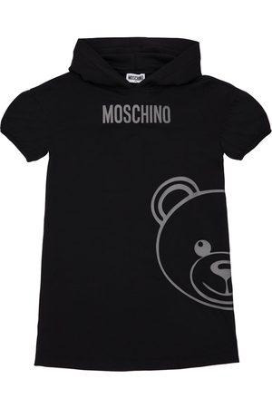 Moschino Toy Print Cotton Sweat Dress Hoodie