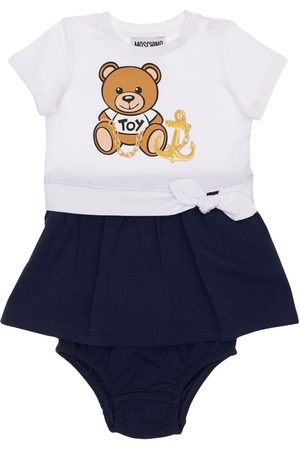 Moschino Toy Print Jersey Dress W/ Diaper Cover