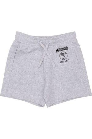 Moschino Boys Shorts - Logo Print Cotton Sweat Shorts