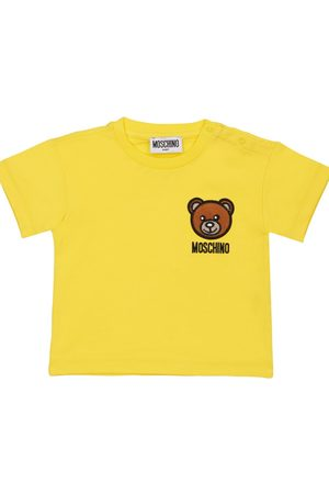 Moschino Bear Embroidered Cotton Jersey T-shirt