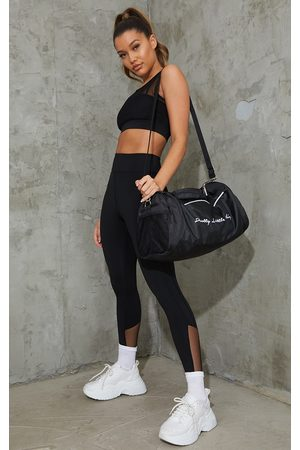 PRETTYLITTLETHING Brushed Luxe Mesh Insert Gym Leggings