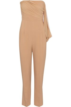 DAVID KOMA Strapless cady jumpsuit