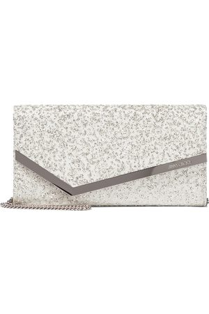 Jimmy Choo Emmie leather and tulle clutch