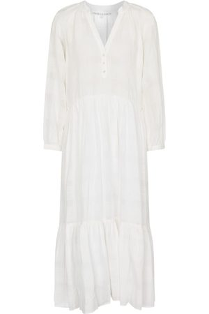 VERONICA BEARD Sarita cotton and linen midi dress