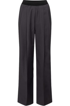 Low Classic High-rise wool-blend straight pants