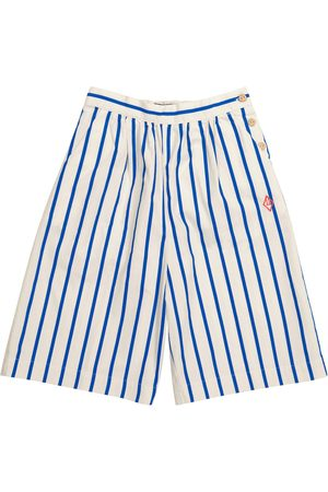 The Animals Observatory Buffalo striped cotton shorts