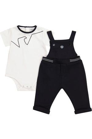 Emporio Armani Baby stretch-cotton bodysuit and overalls set