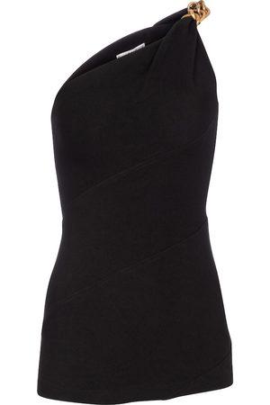 Givenchy Embellished one shoulder top