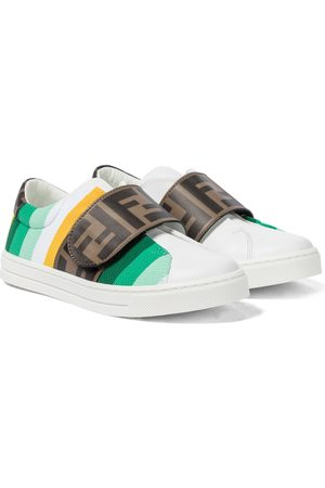 Fendi Logo leather sneakers