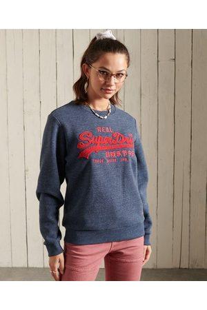 Superdry Women Sweatshirts - Vintage Logo Chenille Crew Sweatshirt