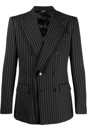 Dolce & Gabbana Men Blazers - Pinstripe peak-lapel blazer