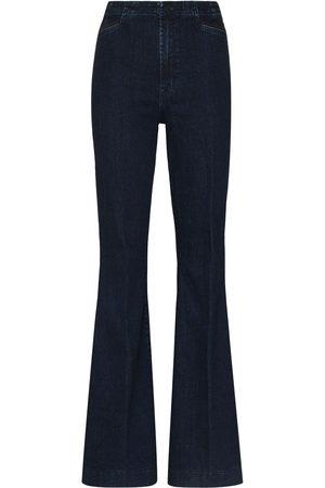 J Brand High-waist flared jeans