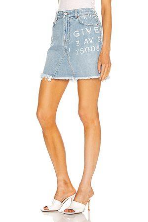 Givenchy Mini Logo Skirt in Denim-Light